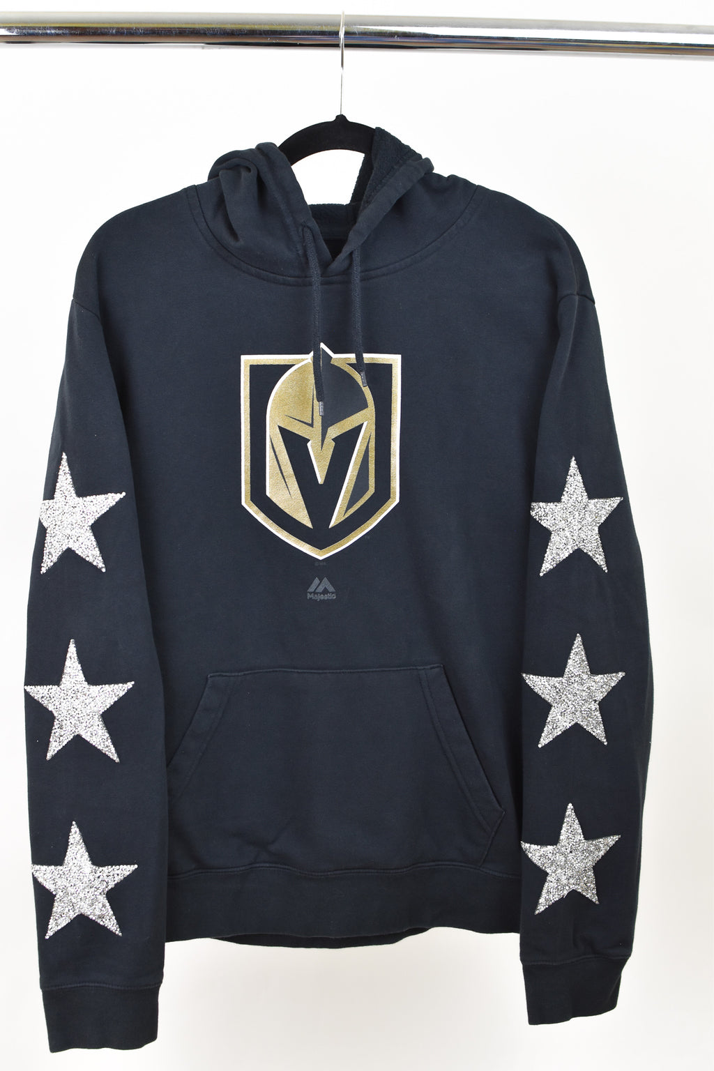 Upcycled Las Vegas Golden Knights Star Rhinestone Sweatshirt