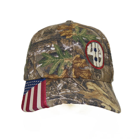 """United Under God"" Structured Camo Cap w/Flag Visor Insert"