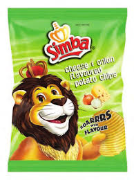 Simba Cheese and Onion Chips 36gr Packet