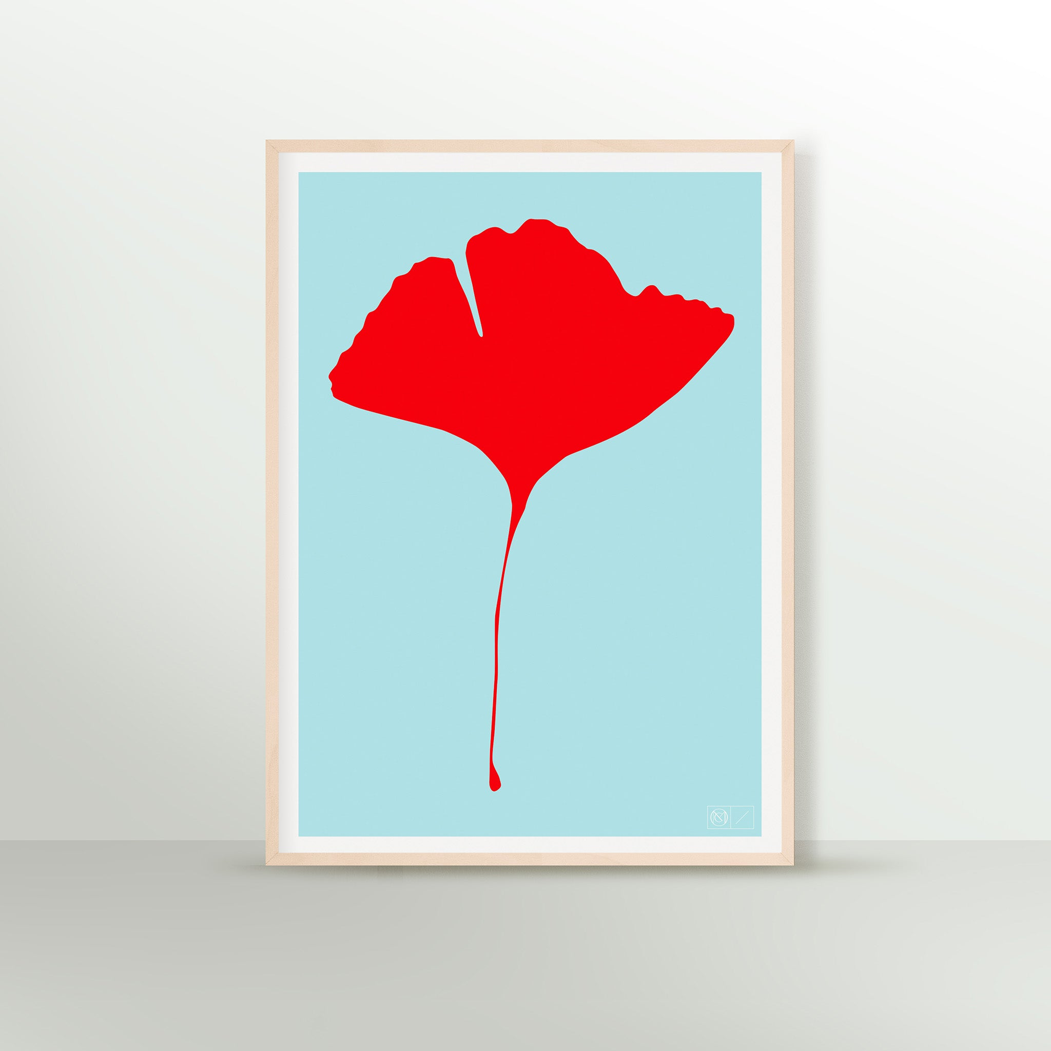 GINKGO POP Poster - No.2 - Screen Print - 50 x 70cm
