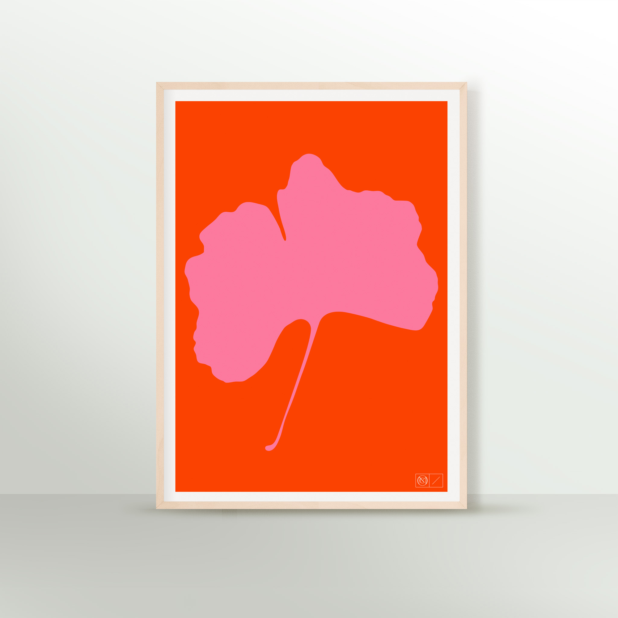 GINKGO POP Poster - No.5 - Screen Print - 50 x 70cm