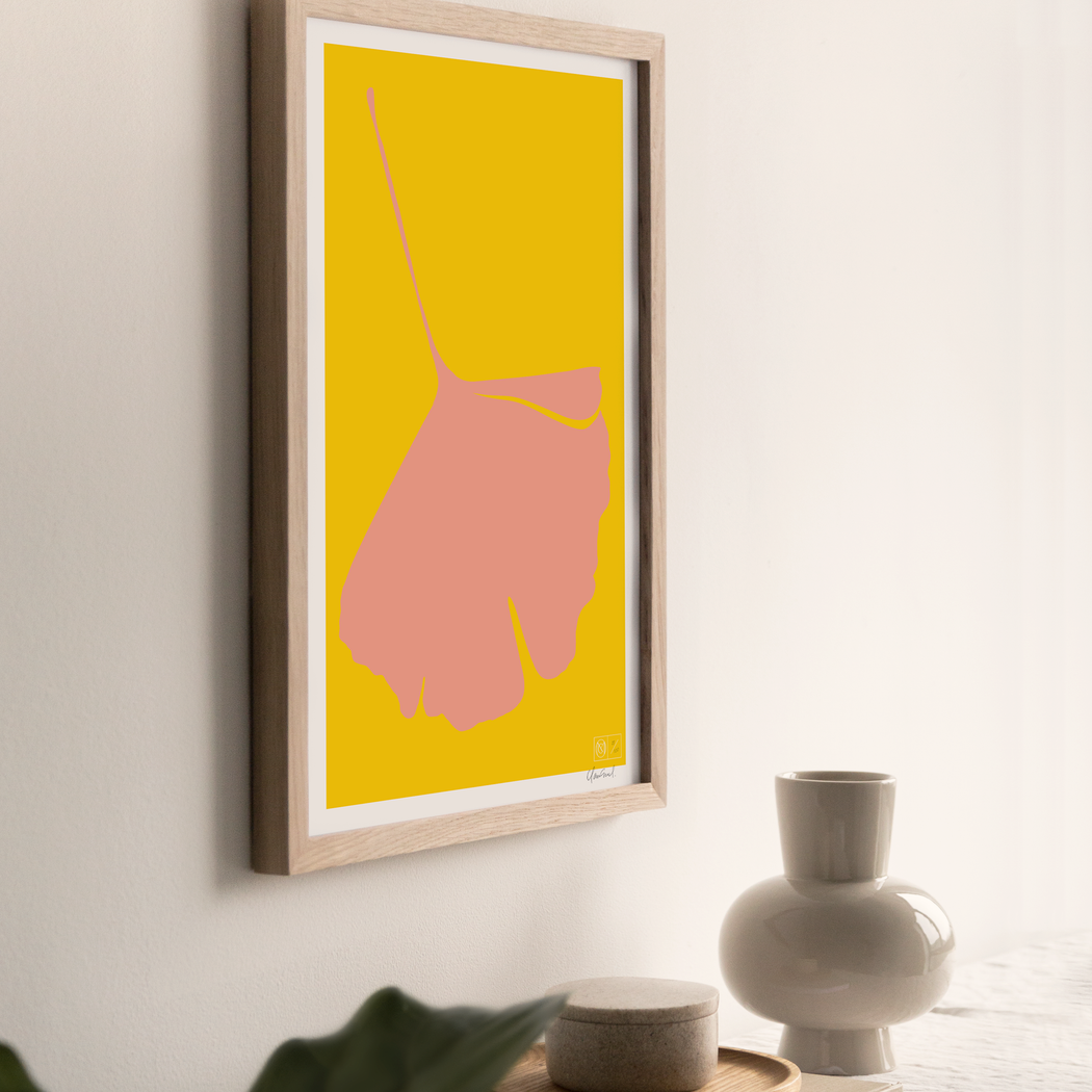 GINKGO POP Poster - No.4 - Screen Print - 50 x 70cm