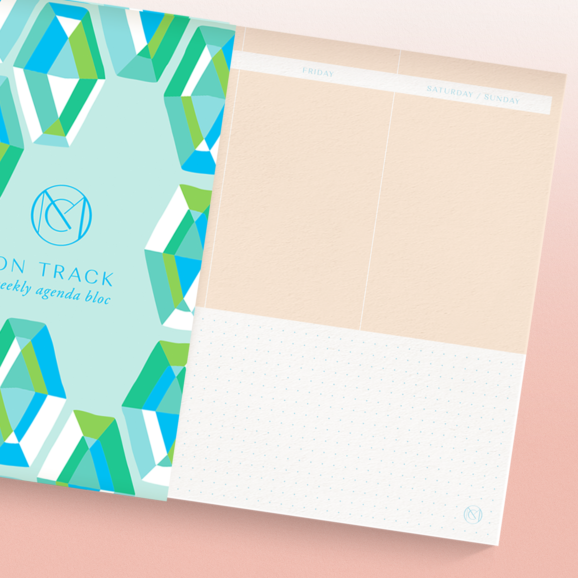 ON TRACK - Undated Weekly Planner - GLASSHOUSE