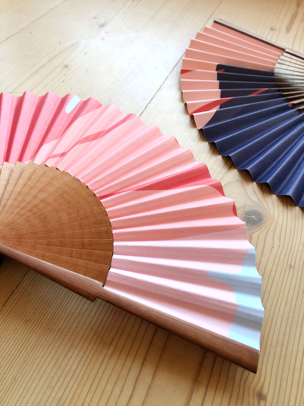 GINKGO POP Handmade Folding Paper Fan - Amalfi