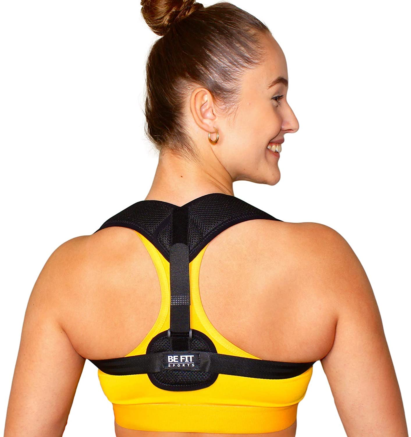 The BEST Posture Corrector for Men and Women, Adjustable Back Support Brace, Washable - Helps Relieve Back Pain and Neck Pain
