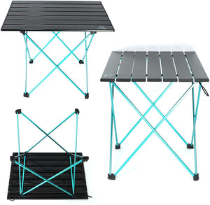 Active Camping Folding Table - Aluminum Joints, Compact, Lightweight Camping Table. Portable Outdoor Furniture for Picnic, Beach, Hiking