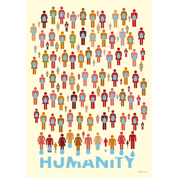 Humanity (carte postale affichette)