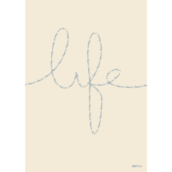 Life is a succession of choices (carte postale affichette)