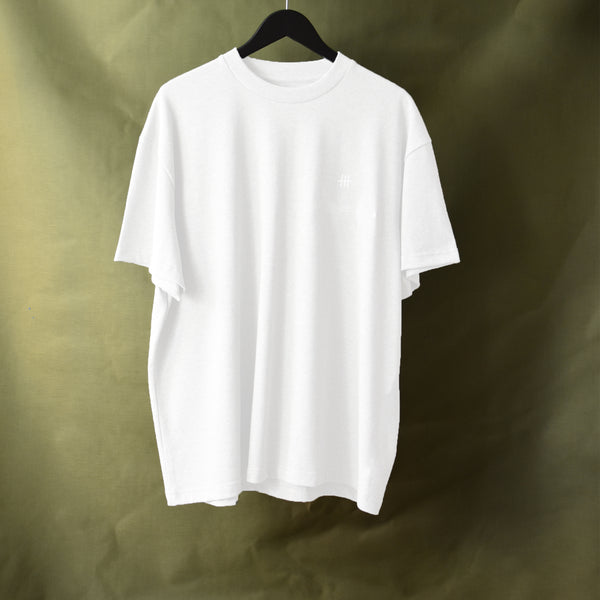 Box Fit Small Logo Tee - White