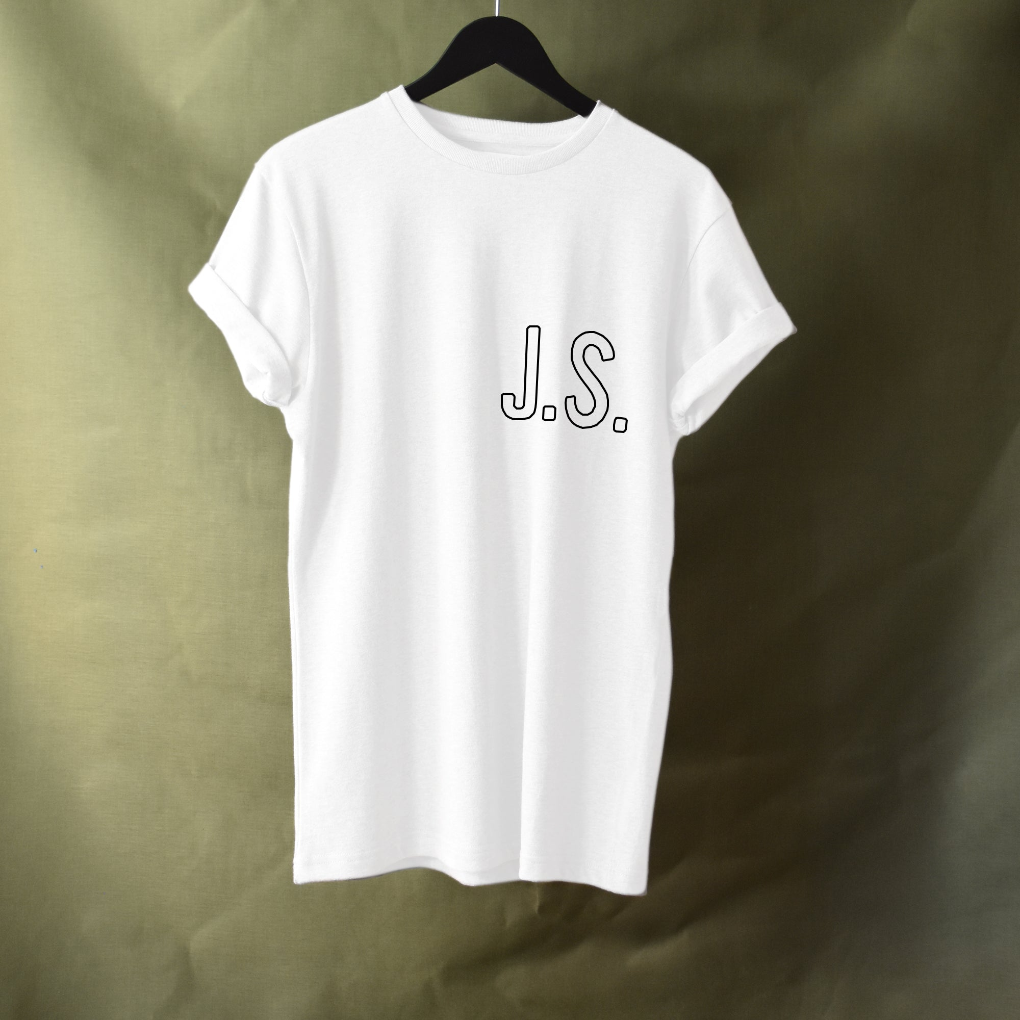 Standard Initial Tee - White