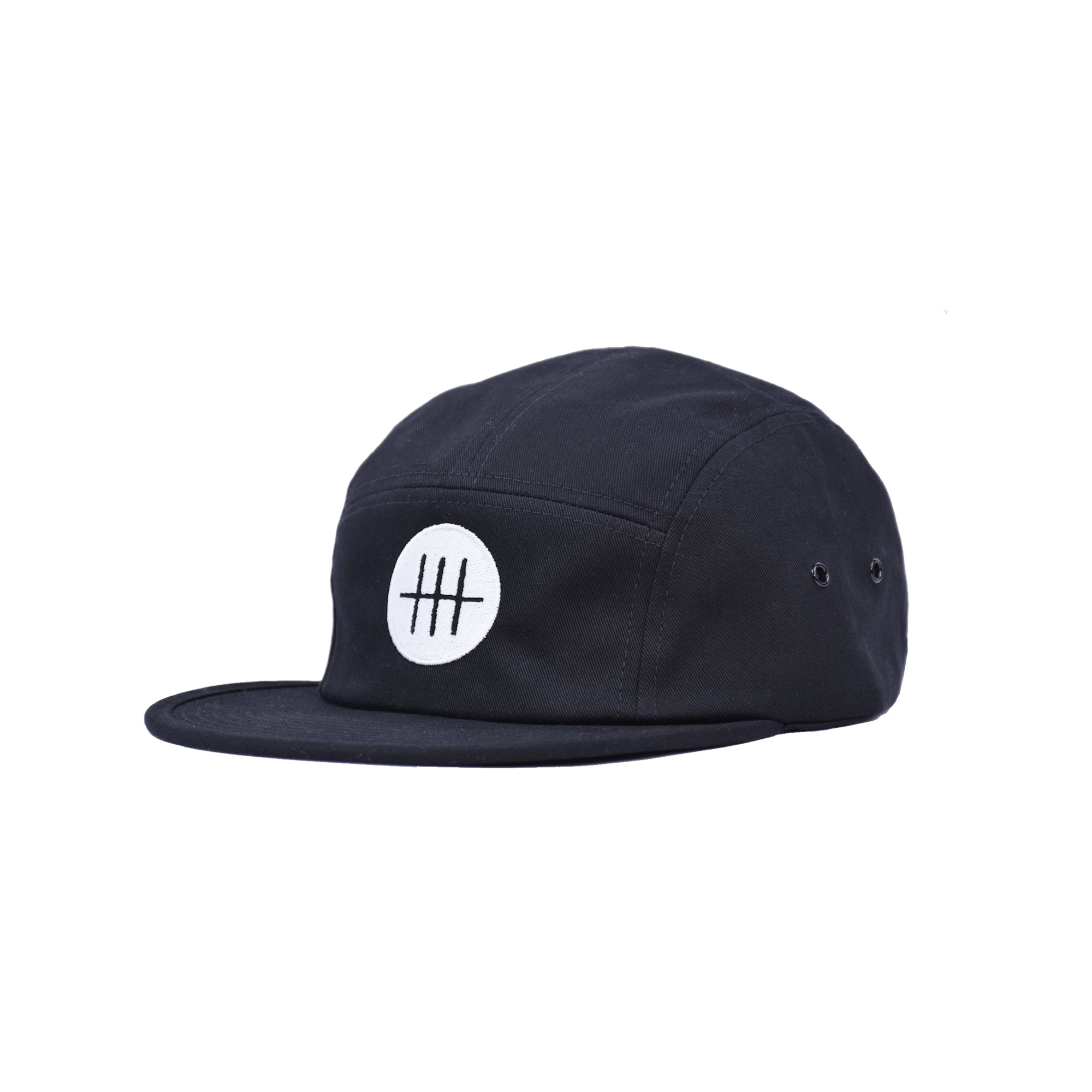 Three Stitches Five Panel (White Logo)