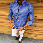 Men's fashion casual slim shirt