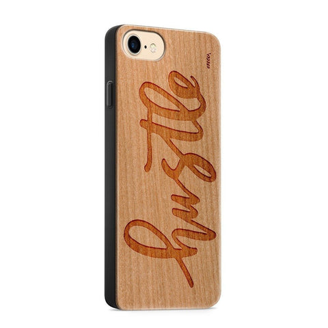 iPhone Mobile Cover Case Wood  - Hustle