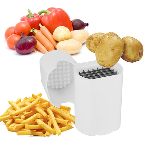 French Fry Potato Cutter Fruit Vegetable Chopper Onion Chipper Kitchen Tool with Stainless Steel Blades