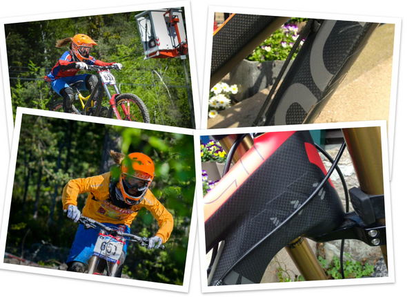 Frame protection from All Mountain Style on a Devinci Wilson DH bike