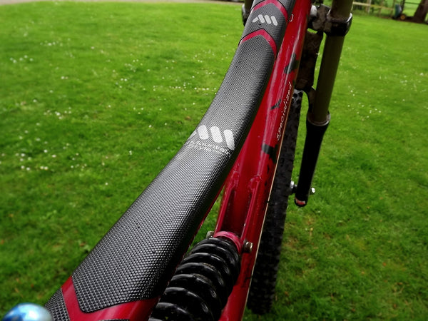 Black XL AMS Frame Guard on Specialized top tube