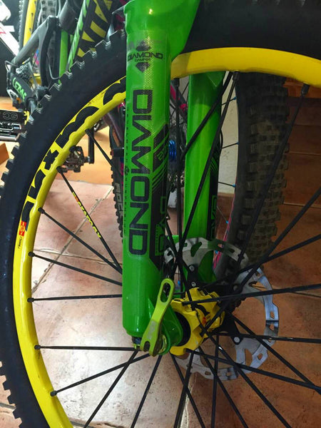 Cedric Gracia DVO Diamond Fork protected with clear AMS Fork Guard
