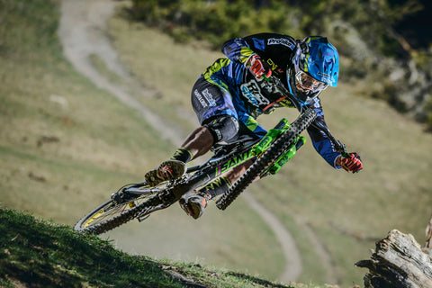All Mountain Style rider Cedric Gracia manualing