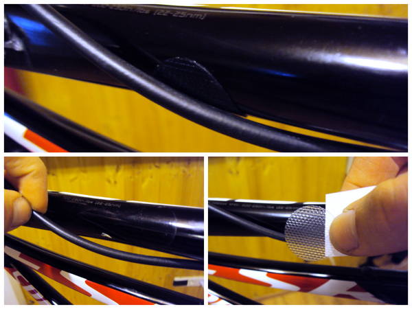 Installation of a AMS Frame Guard for cable wear protection