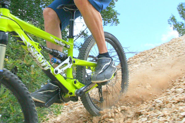 Going downhill protected with AMS Frame Guards