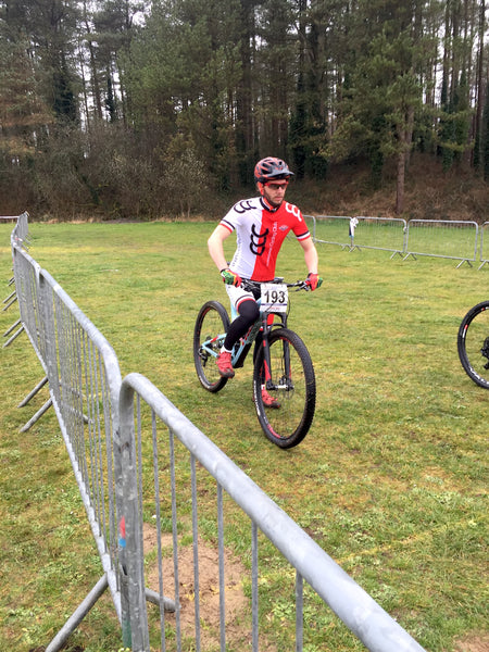 AMS rider Rich Payne at XC British at the start