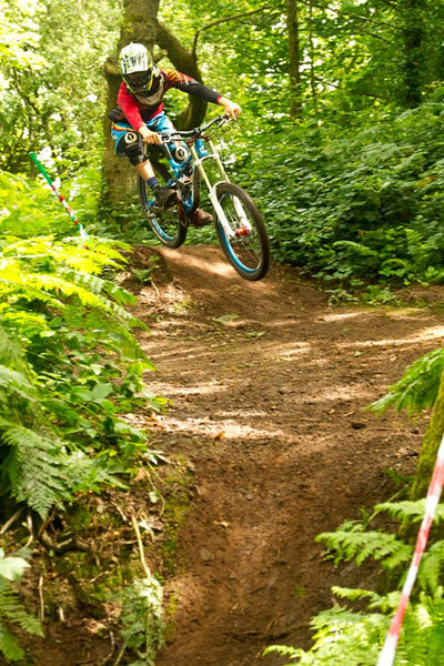 Richard Payne AMS ambassador on a downhill bike
