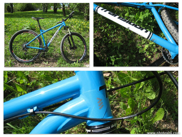 Frame protection from All Mountain Style on a Transition cyclocross bike