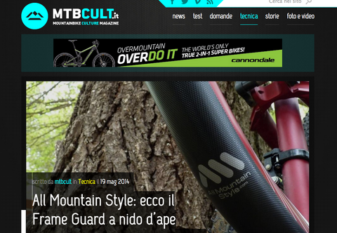 Mtbcult.it article on All Mountain Style Frame Guards