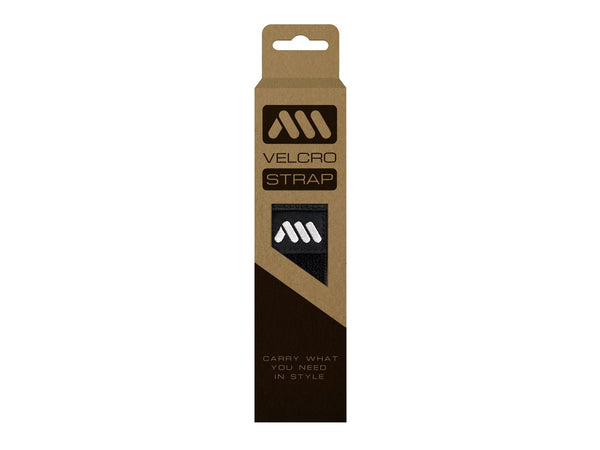 AMS Velcro Strap in black color inside packaging