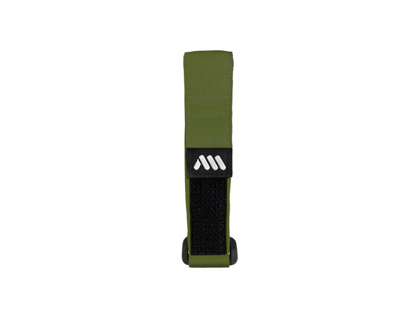AMS velcro strap in green color outside of the packaging