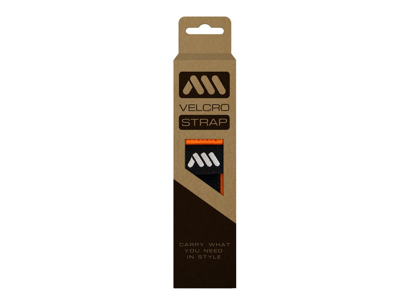 AMS Velcro Strap in orange color inside packaging
