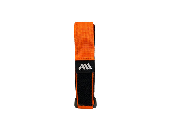 AMS Hook&Loop Strap in orange color product folded