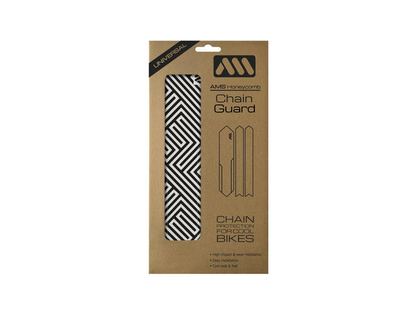 AMS Chain Guard in Maze pattern inside the packaging