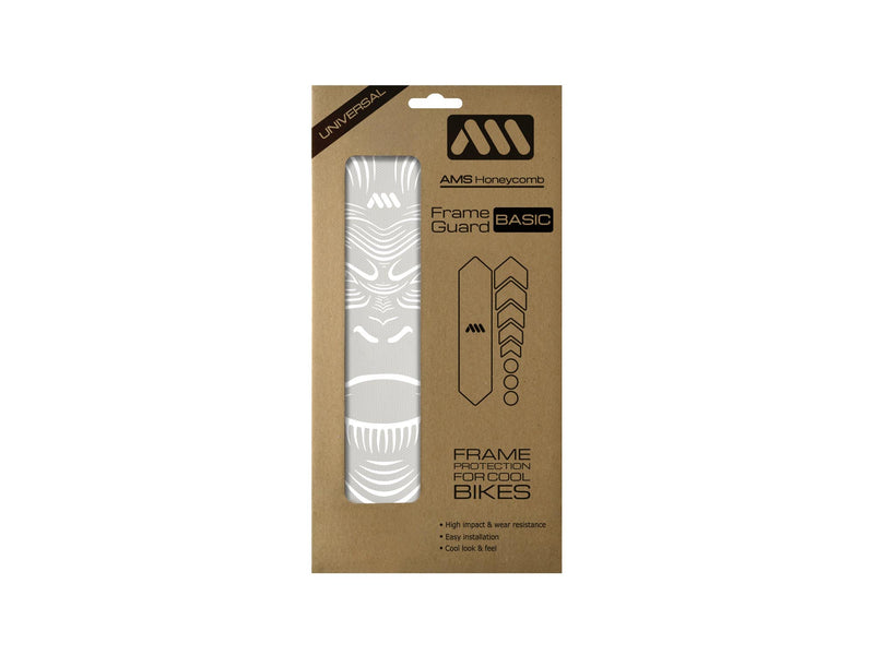 AMS Frame Guard Basic size with white ape design inside the packaging