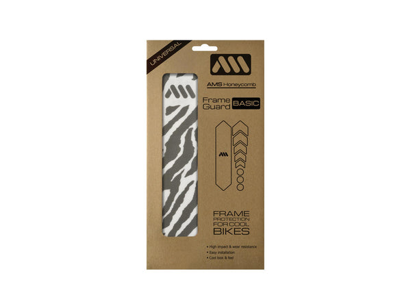 AMS All Mountain Style Frame Guard Zebra basic size inside the packaging