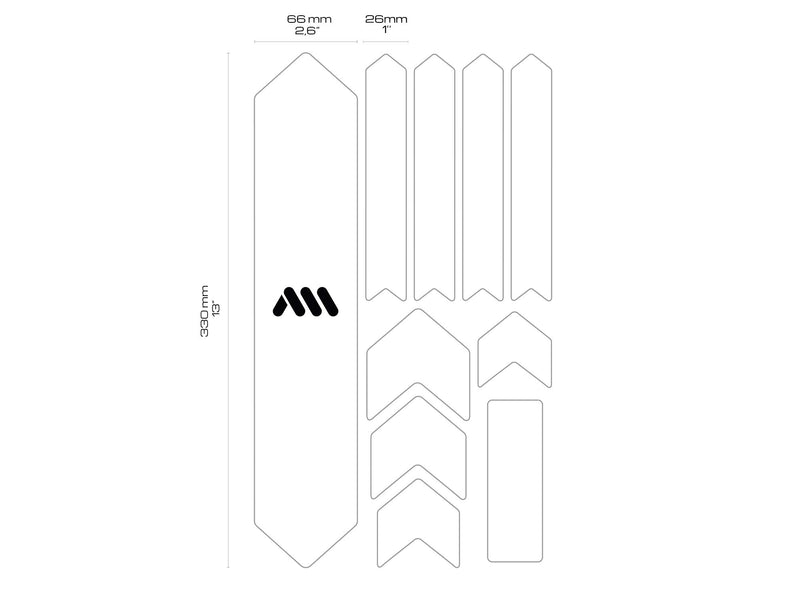 AMS X Red Bull Rampage Frame Guard general dimensions