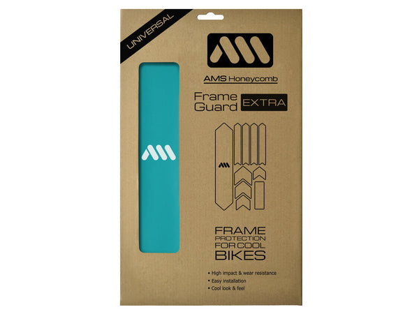 AMS Frame Guard Blue extra size inside the packaging