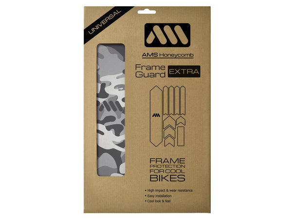 AMS Frame Guard Camo Extra size inside the packaging