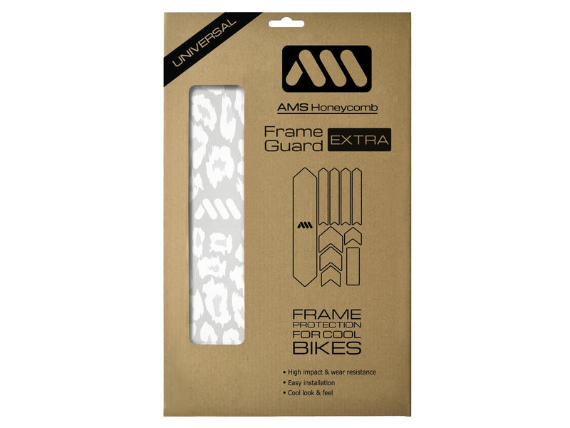 AMS Frame Guard Extra Size Cheetah white inside the packaging
