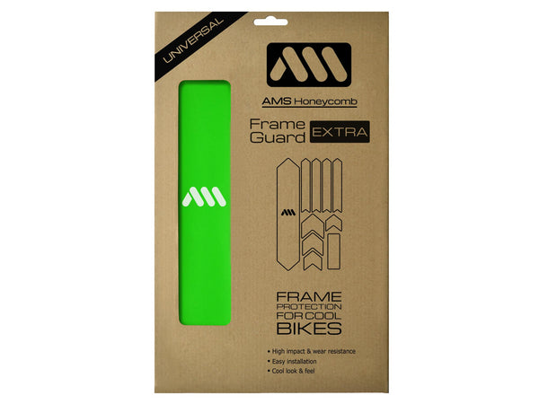 AMS Frame Guard Extra size in green color inside the packaging