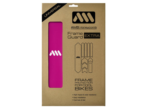 AMS Frame Guard Extra size in magenta color inside the packaging