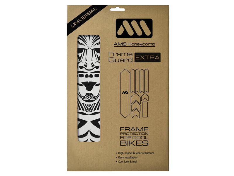 AMS Frame Guard Extra size Maori design in black color in the packaging
