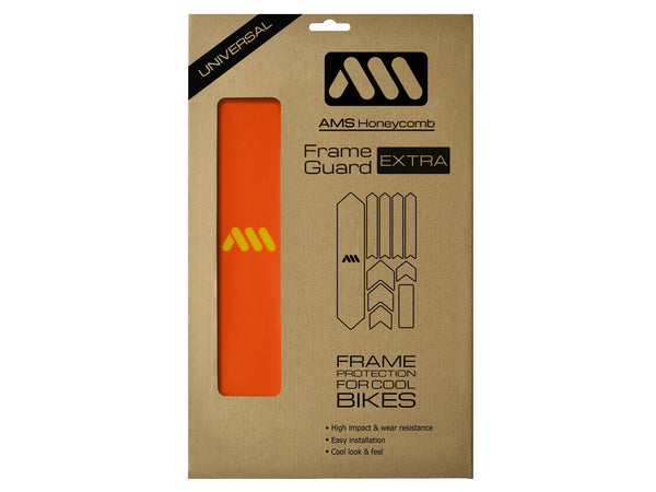 AMS Frame Guard Orange extra size inside the packaging