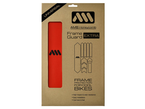 AMS Frame Guard Red extra size inside the packaging