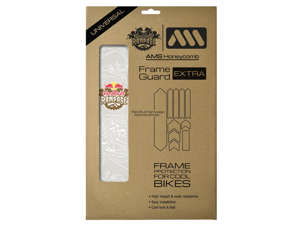 AMS X Red Bull Rampage Frame Guard Extra in White inside the packaging