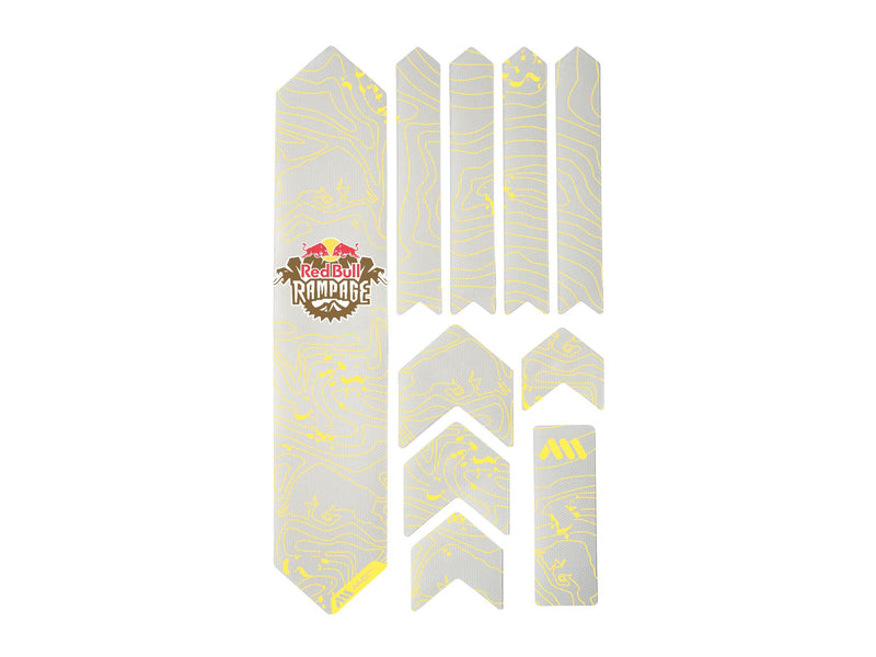AMS X Red Bull Rampage Frame Guard Extra in Yellow outside the packaging