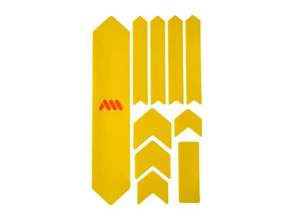 AMS Frame Guard Extra size in yellow color outside the packaging