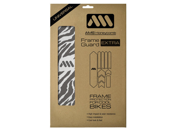 AMS Frame Guard Zebra Extra size inside the packaging