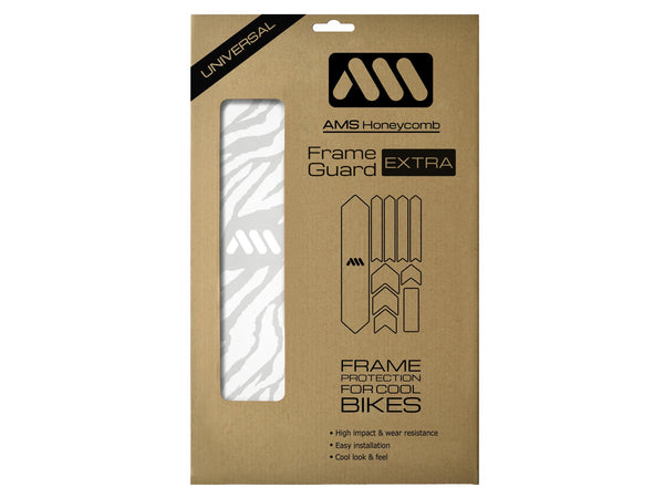 AMS Frame Guard Extra Size in white color inside the packaging