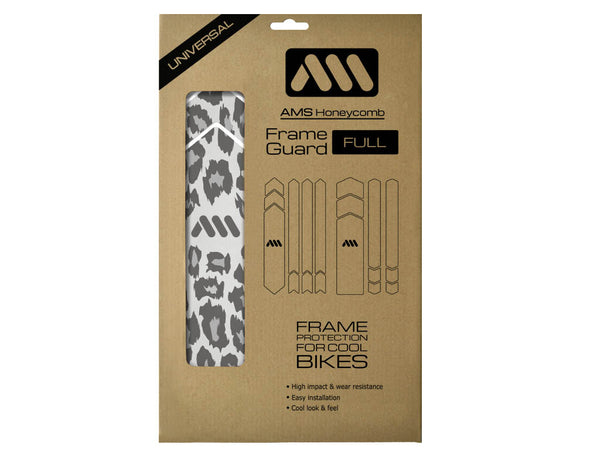AMS Frame Guard Cheetah pattern in Full size inside the packaging